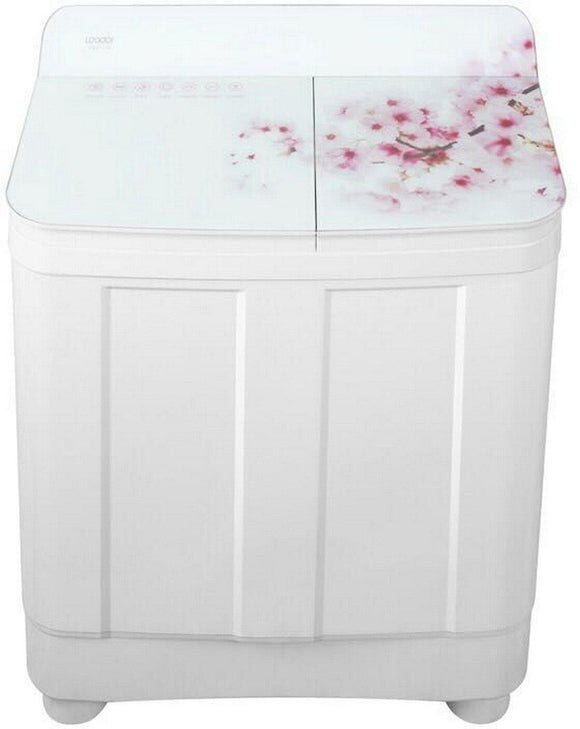 Haier HTW82-178 8.2 kg Semi-Automatic Top Loading Washing Machine (Peach Blossom) - Kay Dee Electronics
