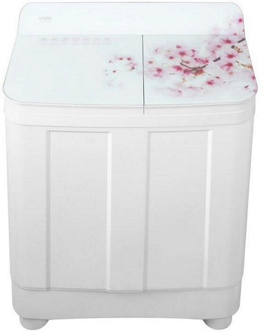 Haier 8.2 kg Semi-Automatic Top Loading Washing Machine (HTW82-178, Peach Blossom)