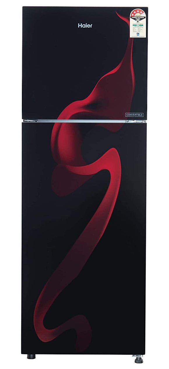 Haier HRF-2784PSG-E, 258 L 4 Star ( 2019 ) Inverter Frost-Free Double Door Refrigerator (Spiral Glass Black)