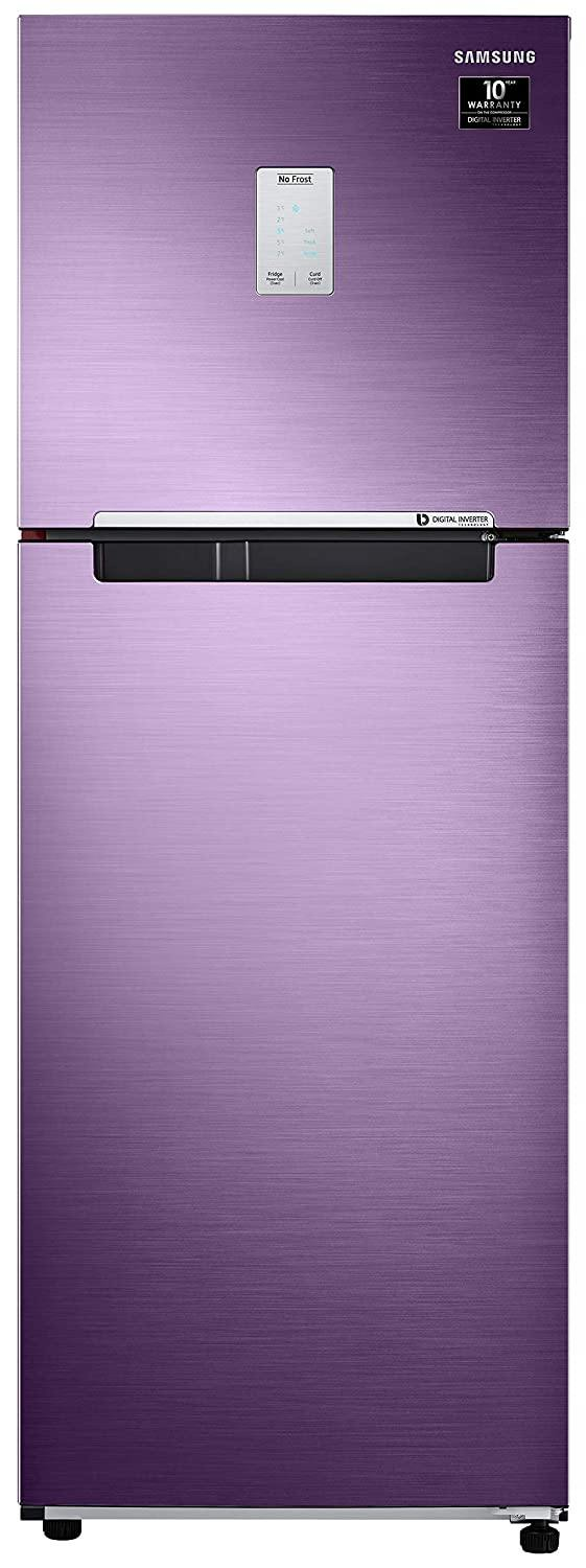 Samsung 244 L 2 Star Inverter Frost-Free Double Door Refrigerator (RT28T3522RU/HL, Luxe Purple)