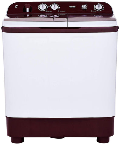 Haier HTW90-1128BT 9 kg Semi-Automatic Top Loading Washing Machine (Burgundy)