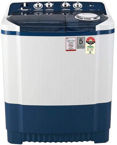 LG P7535SBMZ, 7.5 Kg 5 Star Semi-Automatic Top Loading Washing Machine (Dark Blue)