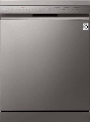 LG 14 Place Settings Wi - Fi Dishwasher (DFB424FP, Silver, Silent Operation, Tough Stain Removal, Adjustable racks ) - Kay Dee Electronics