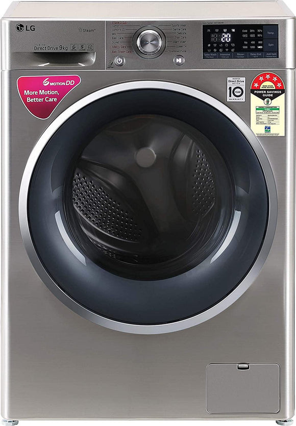 LG 9 Kg 5 Star Inverter Wi-Fi Fully-Automatic Front Loading Washing Machine (FHT1409ZWS, VCM, Steam)