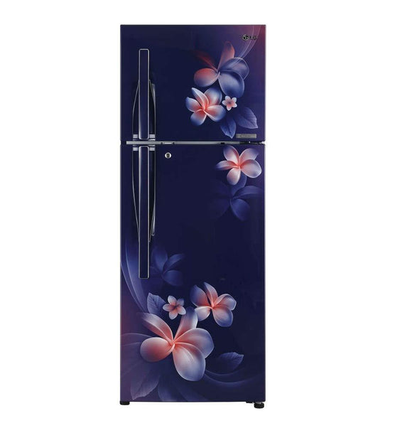 LG 260 L 3 Star Inverter Linear Frost-Free Double-Door Refrigerator (GL-T292RBPN, Blue Plumeria, Convertible)