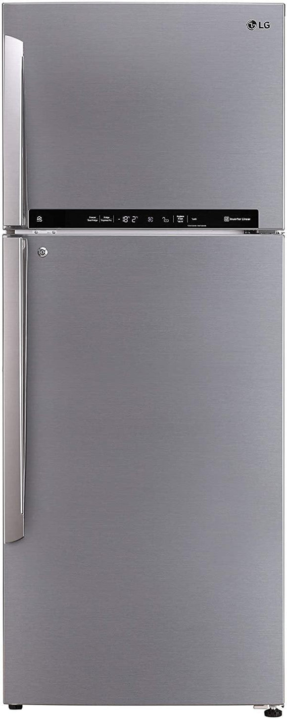 LG 471 L 2 Star LG ThinQ(Wi-Fi) Inverter Linear Frost-Free Double-Door Refrigerator (GL-T502FPZU, Shiny Steel, Convertible) - Kay Dee Electronics
