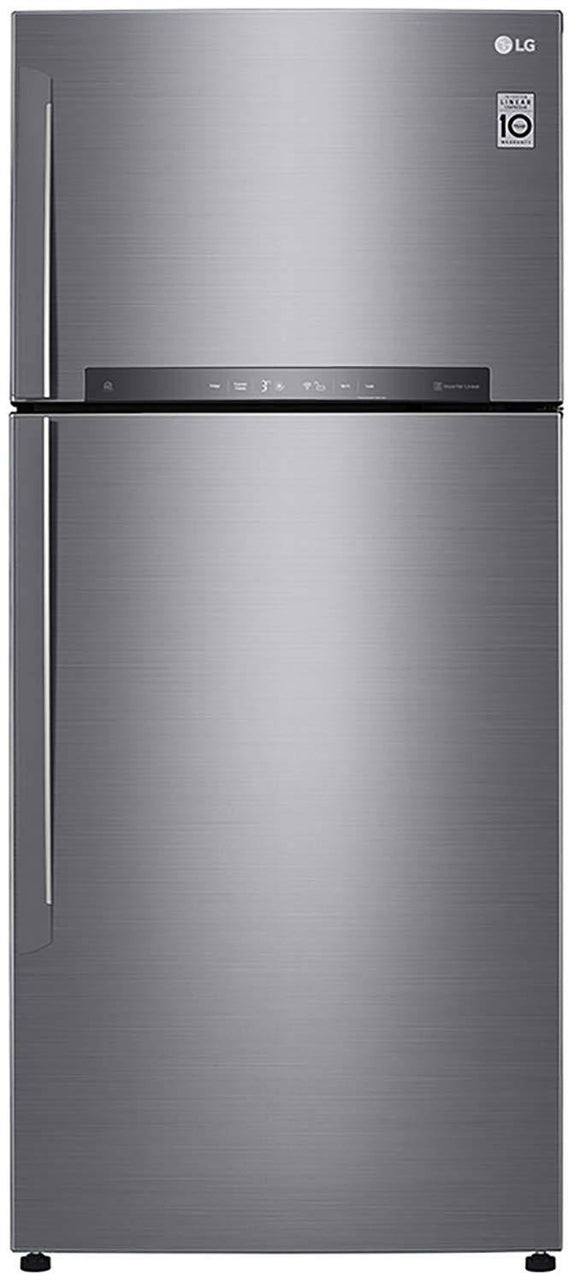 LG 516 L 3 Star Inverter Frost-Free Double Door Refrigerator (GN-H602HLHQ, Shiny Steel)