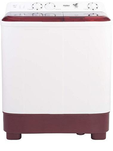 Haier 6.5 kg Semi Automatic Top Load Washer with dryer - HTW65-1187BO , Red