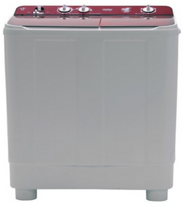 Haier 7.6 Kg Semi automatic top load Washing machine - HTW76-1159BT , White & Red