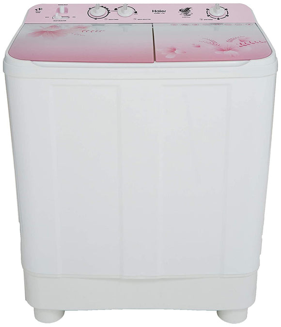 Haier 8 Kg Semi-Automatic Top Loading Washing Machine (HTW80-1159, Pink)