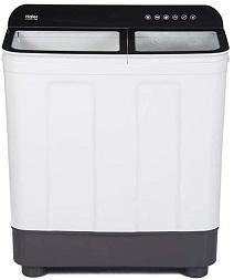 Haier 8.2 Kg Semi-Automatic Top Loading Washing Machine (HTW82-178BK, Black)