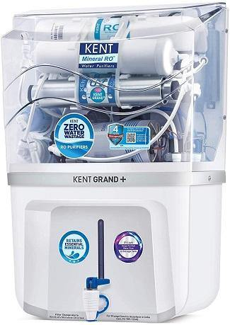 KENT Grand Plus ZWW 9 LTR Mineral RO+UV+UF+TDS Control + UV in Tank, 11099- White