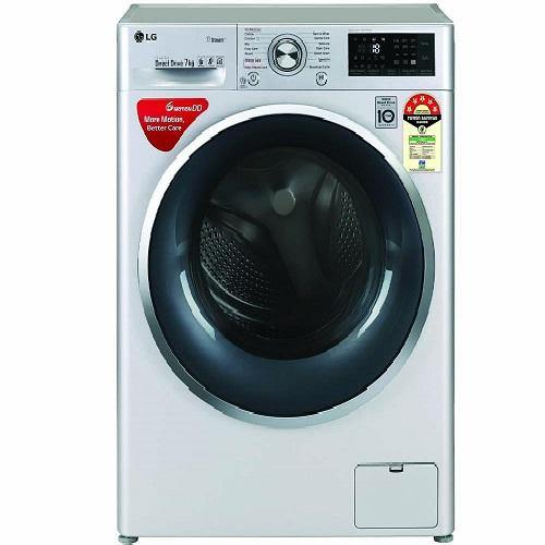 LG FHT1207ZWL 7.0 kg 5 Star Fully Automatic Front Loading Washing Machine with Steam & TurboWash Technology
