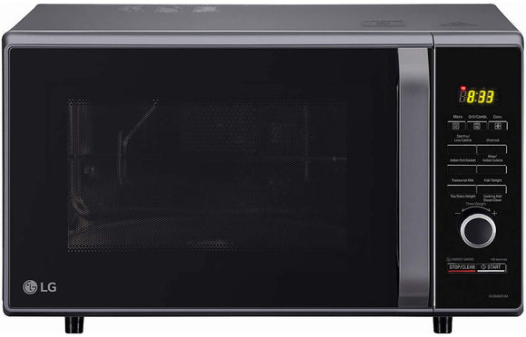 LG 28 L Charcoal Convection Microwave Oven (MJ2886BFUM, Black, With Starter Kit) - Kay Dee Electronics