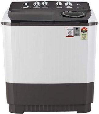 LG 10 kg 5 Star Semi-Automatic Top Loading Washing Machine (P1045SGAZ, Grey, Wind Jet Dry)