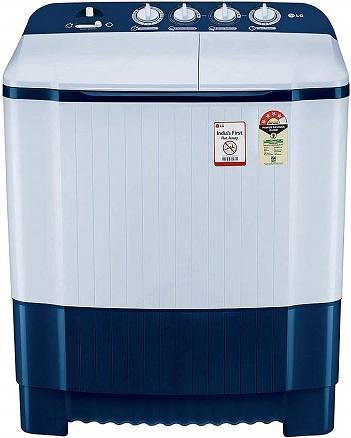 LG 6.5 Kg 4 Star Semi-Automatic Top Loading Washing Machine (P6510NBAY, Dark Blue, Rat Away Technology)