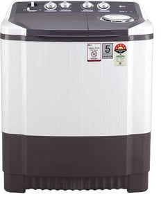 LG P7530SGAZ 7.5 Kg 3 Star Semi-Automatic Top Loading Washing Machine Color: Dark Gray
