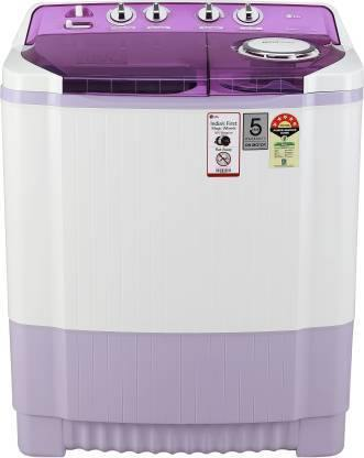 LG P7535SMMZ, 7.5 Kg 5 Star Semi-Automatic Top Loading Washing Machine (Mauve)