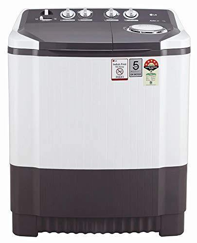 LG 8.0 kg 5 Star Semi-Automatic Top Loading Washing Machine (P8030SGAZ, Dark Grey)