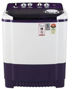 LG P8035SPMZ, 8 Kg 5 Star Semi-Automatic Top Loading Washing Machine (Purple)