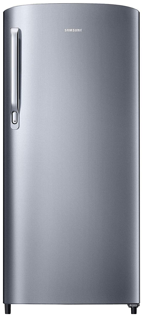Samsung 192 L Direct Cool Single Door 2 Star (2020) Refrigerator  (Elegant Inox (Light DOI Metal), RR19T241BS8/NL)