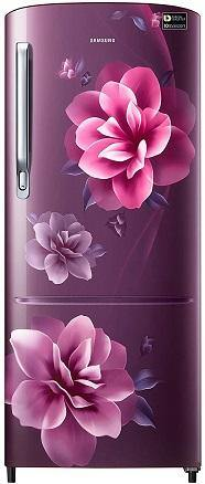 Samsung 192 L 3 Star inverter Direct Cool Single Door Refrigerator (RR20A272YCR/NL, Camellia Purple)