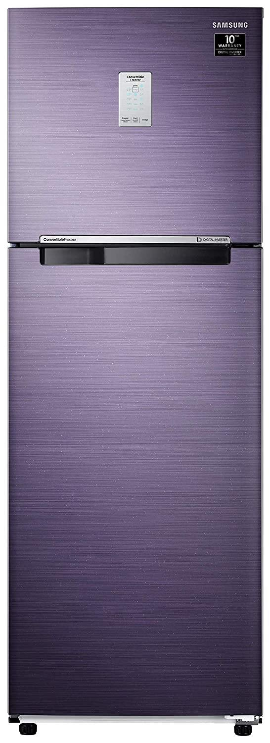 Samsung 265 L 3 Star Inverter Frost-Free Double Door Refrigerator (RT30T3A23UT/HL, Pebble Blue, Convertible)
