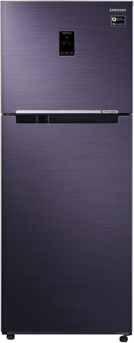 Samsung 394 L 2 Star (2019) Frost Free Double Door Refrigerator(RT39M5538UT/TL, Pebble Blue, Convertible)