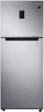 Samsung 386 L (RT39T5C38S9/TL) 2 Star with Inverter Double Door Refrigerator, Refined Inox - Kay Dee Electronics