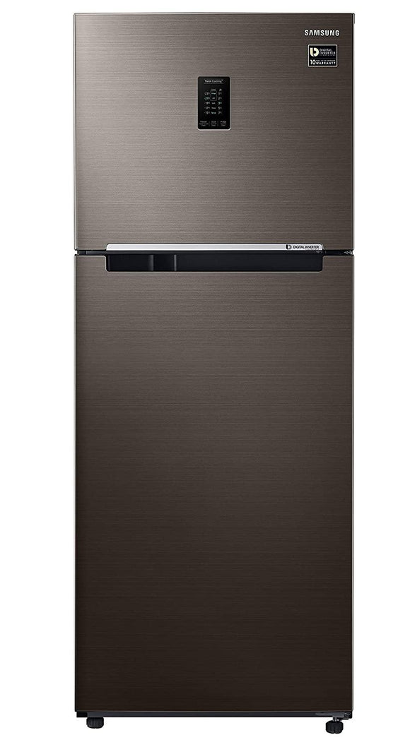 Samsung 386 L 3 Star Inverter Frost-Free Double Door Refrigerator (RT39T5C3EDX/TL, Luxe Brown)