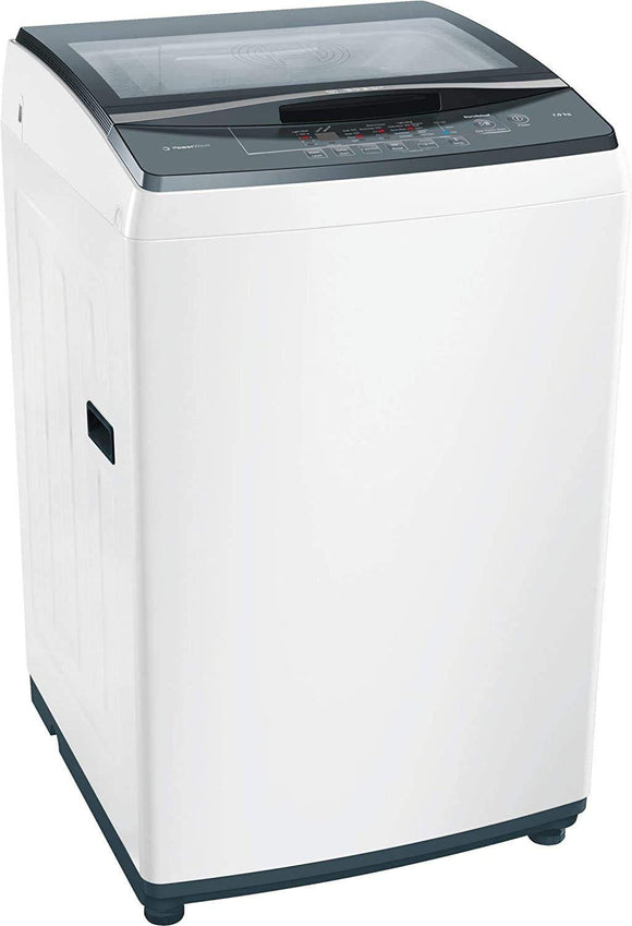 Bosch  7 kg 5 Star Fully Automatic Top Load Washing Machine (EcoSilence Drive Friction-Free Motor, WOE704W1IN, White) - Kay Dee Electronics