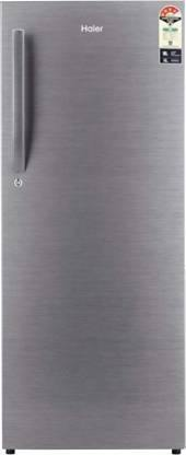 Haier HRD-2203BS-E, 220 L 3 Star Direct Cool Single Door Refrigerator(Brushline Silver)