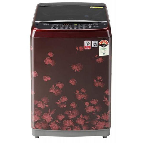 LG T70SJDR1Z, 7.0 Kg 5 Star Inverter Fully-Automatic Top Loading Washing Machine, Red Floral,