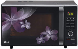 LG 28 L Convection Microwave Oven (MC2886BPUM, Floral Purple, Diet Fry, With Starter Kit) - Kay Dee Electronics