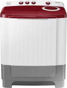Samsung WT80R4000RG 8.0 Kg Semi-Automatic 5 Star Top Loading Washing Machine (Light Grey, Wine Red Lid (Opaque), Hexa Storm Pulsator)