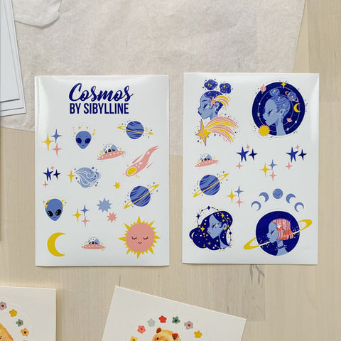 COSMOS STICKER SHEETS - SIBYLLINE