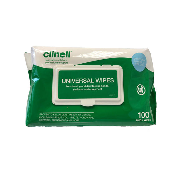 Clinell Biocide Universal Wipes (Carton of 6 packs)