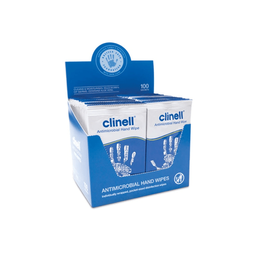 Clinell Antimicrobial Hand Wipes (Carton of 8 packs) - Getz Healthcare (Hong Kong)