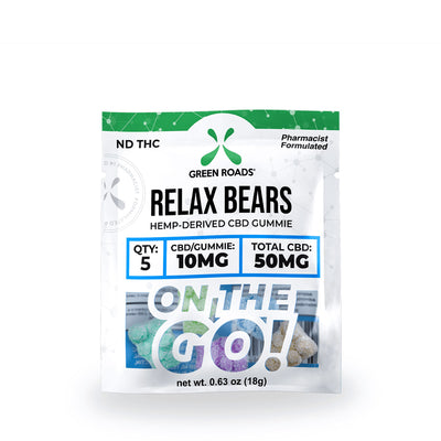 Grean Roads CBD Relax Bears OTG – 50mg