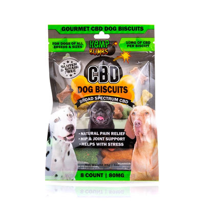 Hemp Bombs CBD Dog Biscuits 80mg