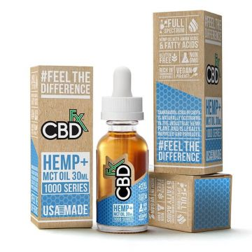 CBDfx 1000mg Full Spectrum CBD Hemp And MCT Oil Tincture 30ML