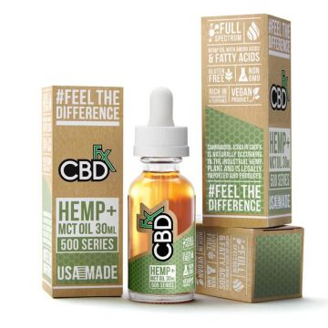 CBDfx 500mg Full Spectrum CBD Hemp And MCT Oil Tincture 30ML