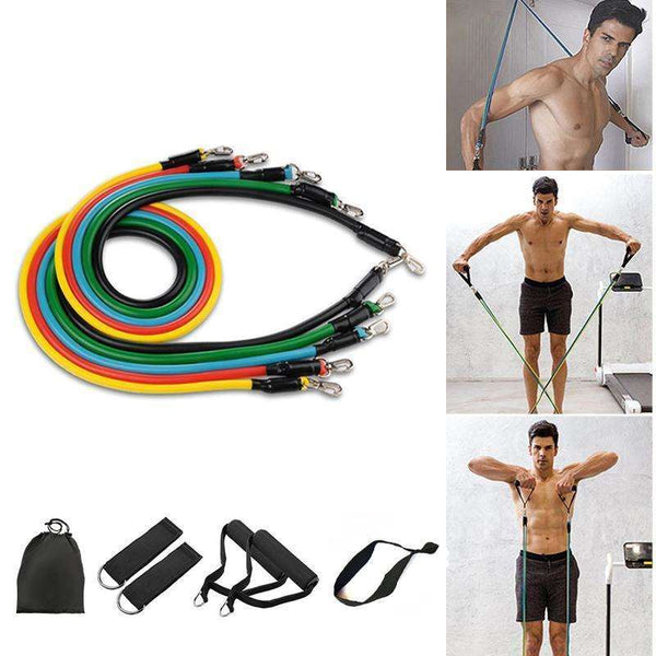 11 Pcs Resistance Band Set, EcommBrands, , 11-pcs-resistance-band-set, spo-default, spo-disabled