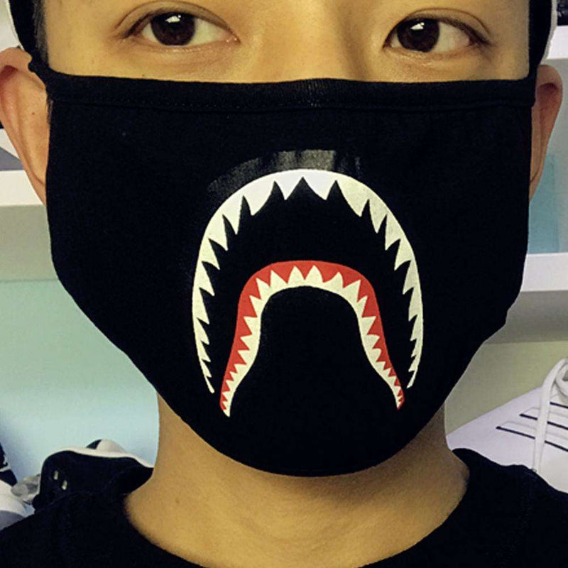 1Pc Fashion Black/Camouflage Shark Mouth-muffle Anti-dust Cotton Face Mask, Snapfitnessdeals, Other Men's Accessories, 1pc-fashion-black-camouflage-shark-mouth-muffle-anti-dust-cotton-face-ma