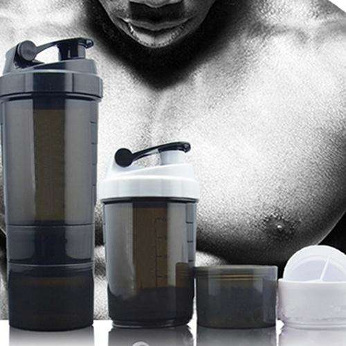 3 in 1 Gym Body Building Water Bottle Protein Powder Mixer Shaker with Mesh Grid, Snapfitnessdeals, Bicycle Accessories & Decoration, 3-in-1-gym-body-building-water-bottle-protein-powder-mixe
