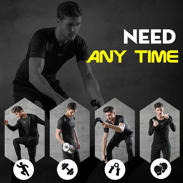 5 Pcs/Set Men's Tracksuit Gym Fitness Compression Sports Suit Clothes Running Jogging Sport Wear Exercise Workout Tights, Snapfitnessdeals, Sports & Entertainment - Running - Running Sets, 5-