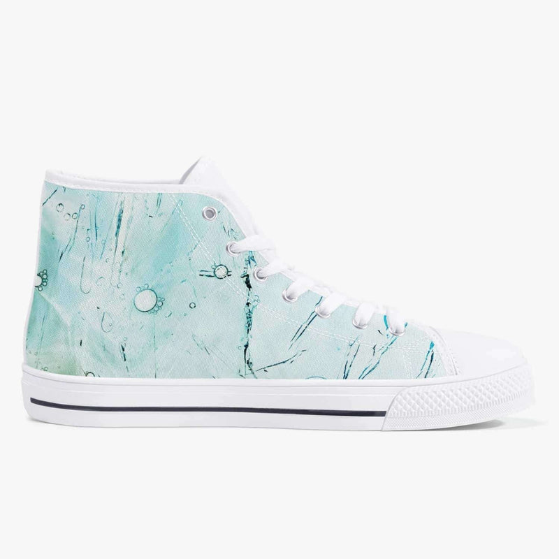 Classic High-Top Canvas Shoes - White/Green/Blue, Snapfitnessdeals, Canvas Shoes, classic-high-top-canvas-shoes-white-green-blue, canvas, canvas shoes, fashion, high top, high-top Shoes, high
