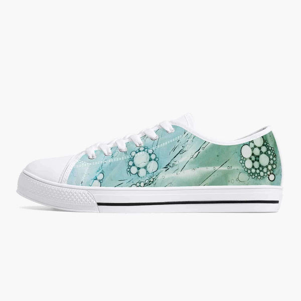 Classic Low-Top Canvas Shoes - White/Green/Blue, Snapfitnessdeals, Canvas Shoes, classic-low-top-canvas-shoes-white-green-blue, canvas, canvas shoes, fashion, low top, low-top Shoes, low-top