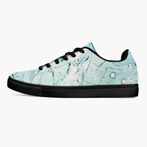Classic Low-Top Leather Sneakers - White/Green/Blue, Snapfitnessdeals, Trendy Shoes, classic-low-top-leather-sneakers-white-green-blue, fashion, leather, leather shoes, leather sneakers, low