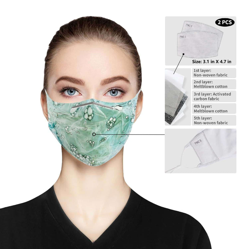 Cloth Face Mask For Adults-Green Pattern, Snapfitnessdeals, For Adults, cloth-face-mask-for-adults-green-pattern, face mask, face masks, filter, filter pads, mask, masks, pads, PM 2.5, PM 2.5